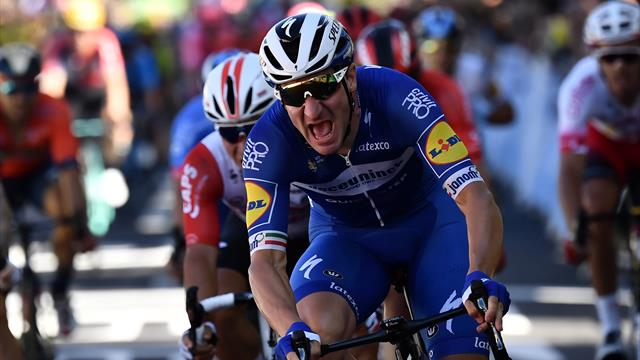 Elia Viviani perfetto a Nancy: 1a vittoria in carriera al Tour, battuti Kristoff e Sagan