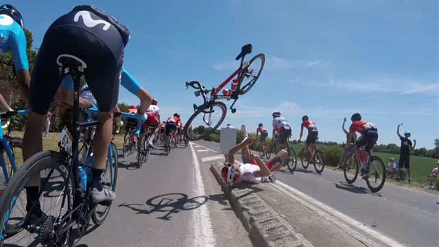 Incredible footage: Terrifying Pierre-luc Perichon crash caught by on-board camera