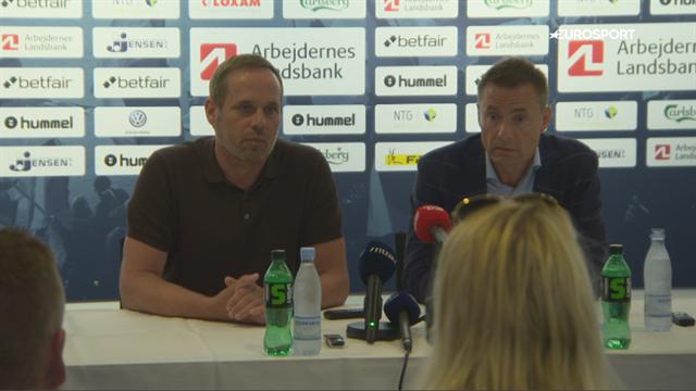 Ebbe Sand ud – Carsten V. Jensen ind: Se hele Brøndbys pressemøde med Jan Bech og CV
