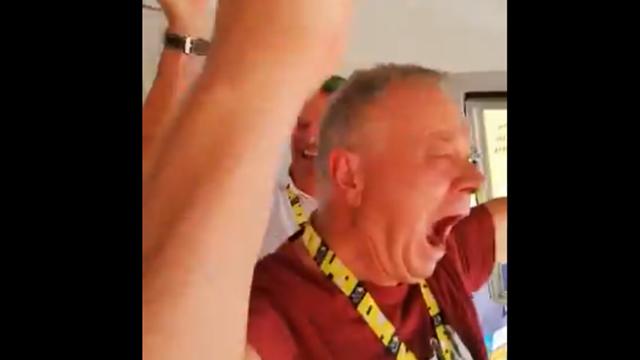 Tour de Francia 2019: El padre de Sagan pierde los papeles celebrando la victoria de su hijo