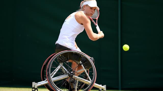 Titelverdediger Diede De Groot verslaat landgenote Marjolein Buis op Wimbledon