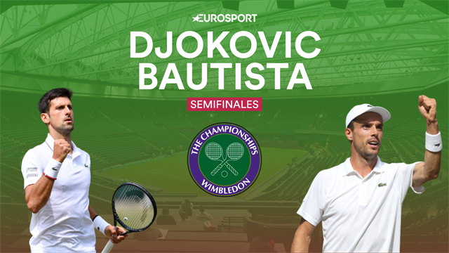 Wimbledon 2019, Djokovic-Bautista: La bestia negra del favorito (14:00)