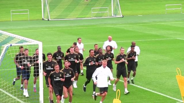 Eden Hazard, primo allenamento con il Real Madrid a Montreal