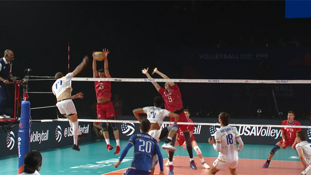 Volleyball Nations League: Russia-Francia 3-0, gli highlights