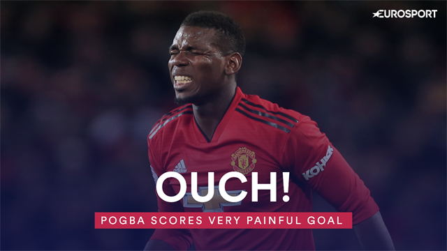 Ouch! Paul Pogba scores very painful goal