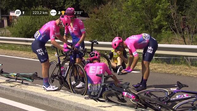 Tour de Francia2019: Van Garderen sufre una dolorosa caída en el inicio de la etapa