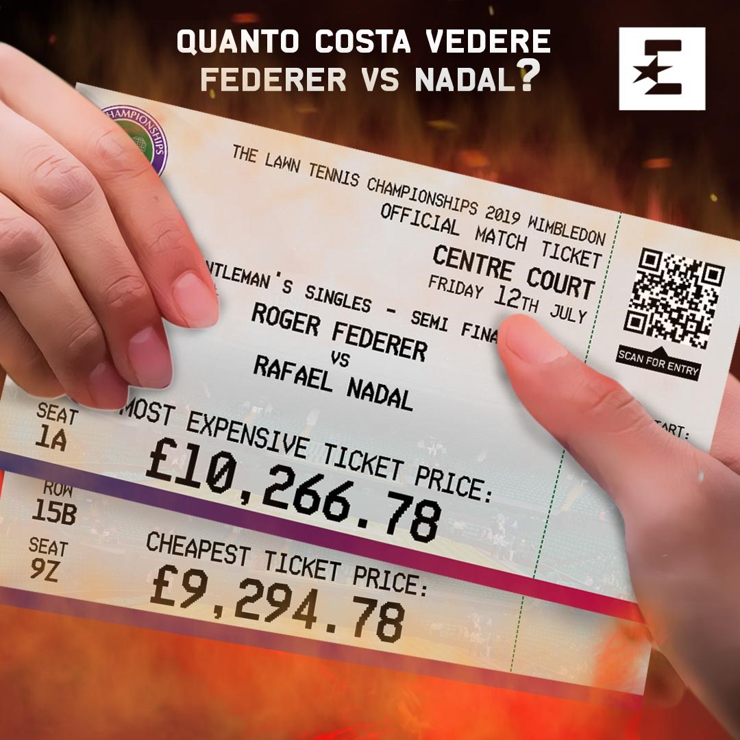 Federer vs Nadal: il costo del biglietto