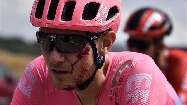 Victime d'une chute, Van Garderen avait fini l'étape le visage ensanglanté