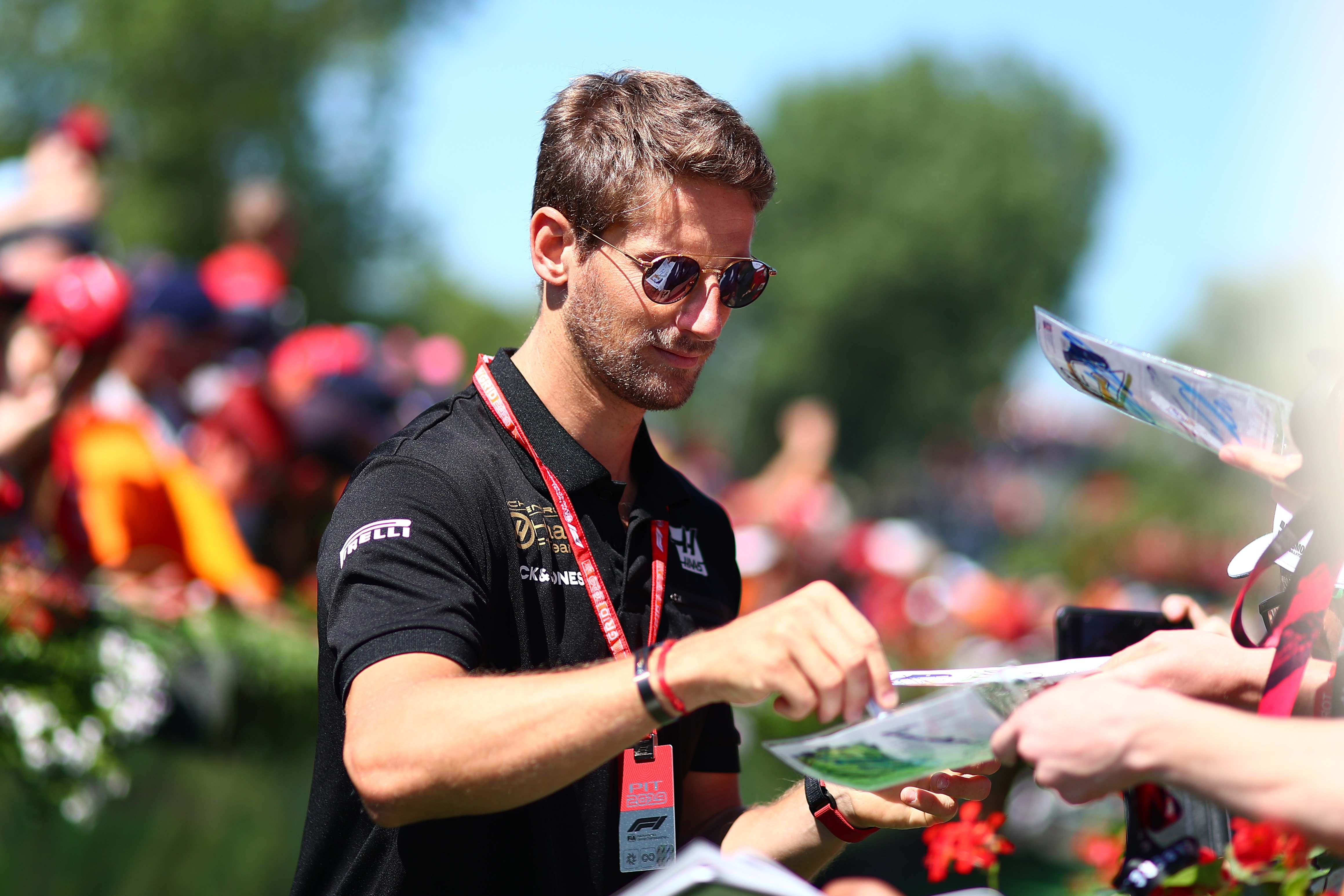 Romain Grosjean au Grand Prix d'Autriche 2019