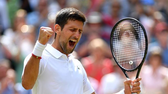 Djokovic battles past Bautista Agut to reach sixth Wimbledon final