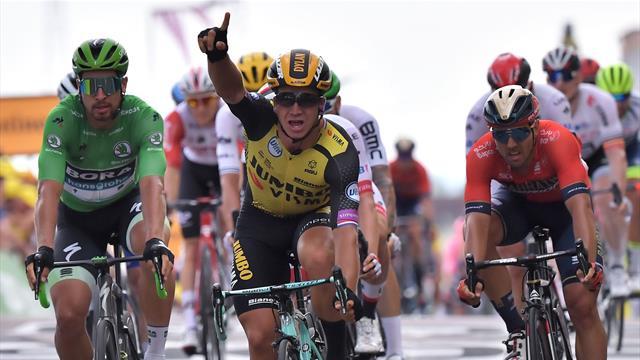 Prima vittoria in volata per Groenewegen: Sagan bruciato, Viviani ko
