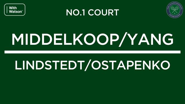 Middelkoop & Yang uitgeschakeld in halve finale Wimbledon