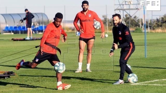 El Atlético cierra la semana de trabajo con madrugón y físico