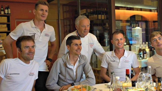 Inside Arkéa-Samsic : après l'effort, le réconfort chez le chef étoilé Georges Blanc