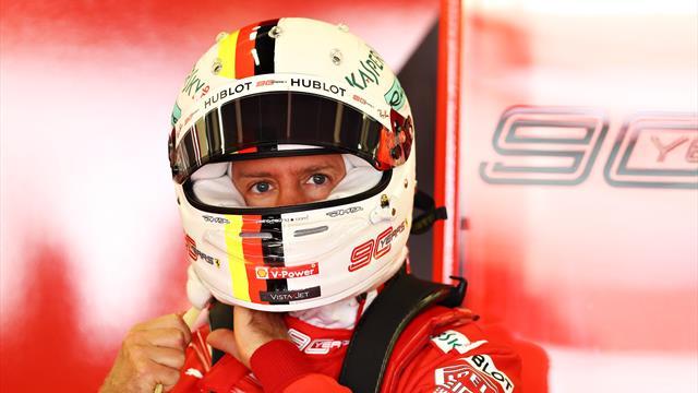 Vettel struggling to get the right feel for his Ferrari
