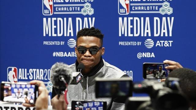 """Harden promete """"diversión"""" con Westbrook, que se despide de los Thunder"""
