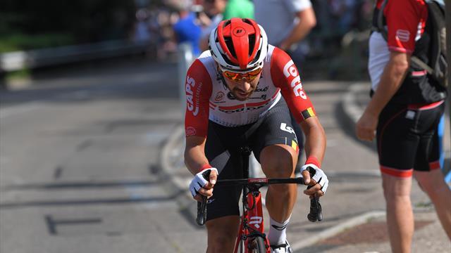 Де Гендт взял восьмой этап, желтая майка перешла к Алафилиппе