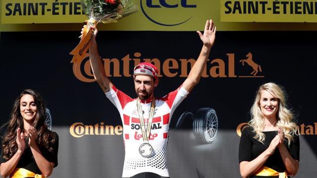 De Gendt logra una victoria heroica en Saint Etienne, Alaphilippe líder