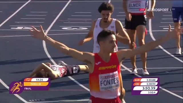 La espectacular remontada de Ignacio Fontes para hacer con el oro en los 1500 m