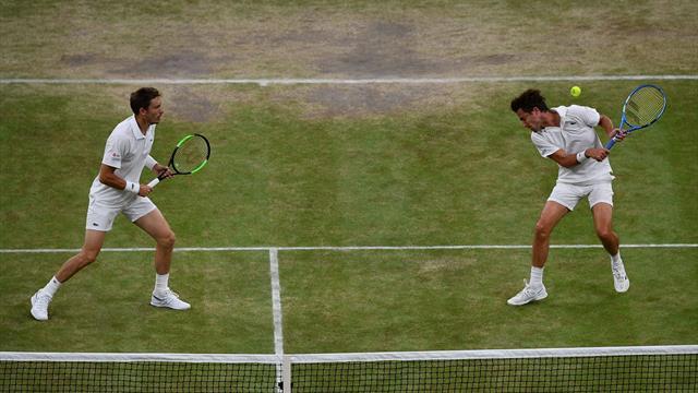 Wimbledon: la paire Mahut-Vasselin échoue d'un rien en finale