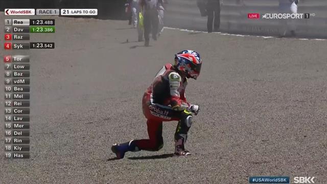 Superbikes, GP de EE. UU.: Nueva caída de Álvaro Bautista en Laguna Seca