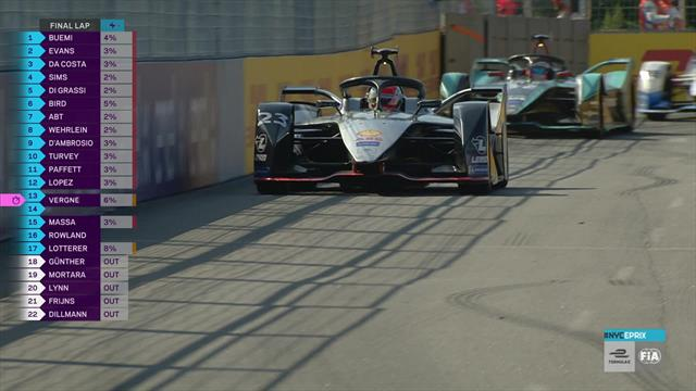 Brilliant Buemi takes his first win over the season in New York