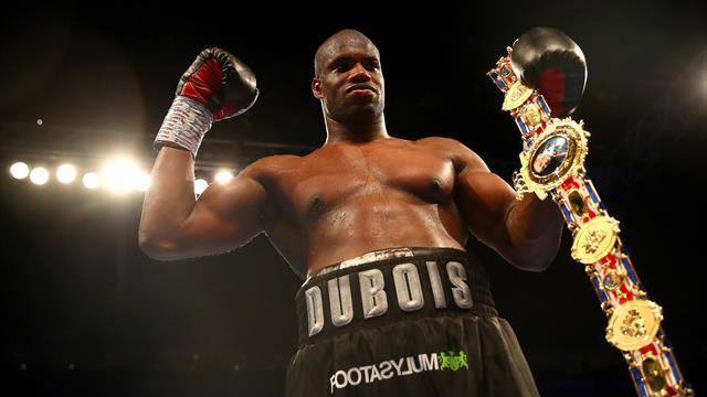 Boxeo, Campeonato británico: Daniel Dubois recibe el cinturón de Lord Londsale
