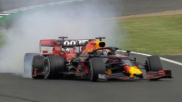 Vettel schießt Verstappen ab, Heimsieg für Hamilton