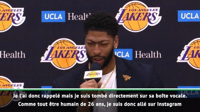 NBA - Davis explique comment il a appris son transfert sur Instagram !