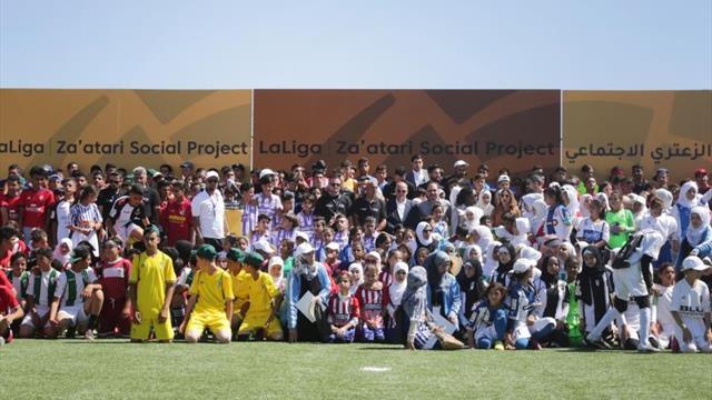 LaLiga presenta su proyecto más solidario en campo de refugiados de Zaatari