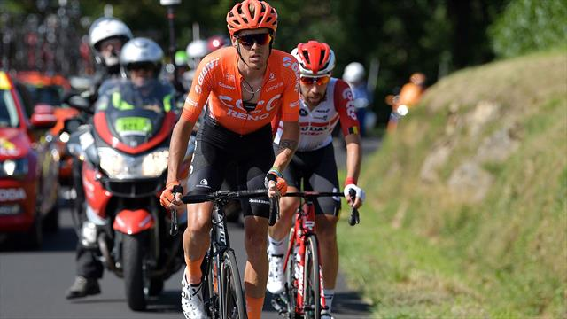 De Marchi stretchered away after Stage 9 crash