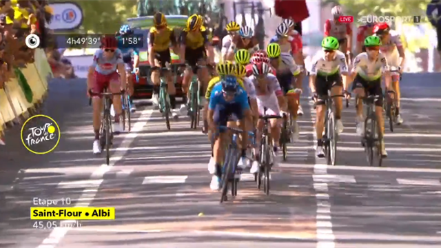 Tour de Francia 2019: El último esfuerzo de Landa tras la caída que le hizo perder dos minutos