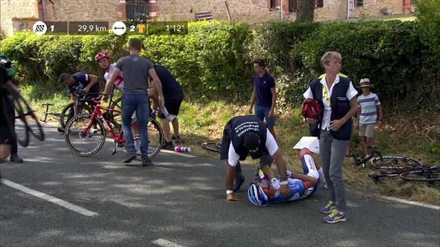 Терпстра получил тяжелую травму за 30 км до финиша 11-го этапа