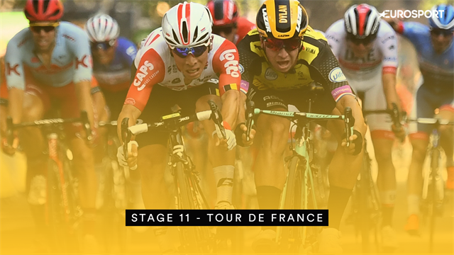 Tour de France: Ewan on top in a frenetic finish