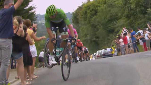 Sagan zeigt seine Rad-Künste: Gruß an die Fans am Streckenrand