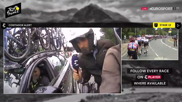 Tour de Francia 2019, la entrevista más peligrosa de Contador: desde la moto al Movistar Team