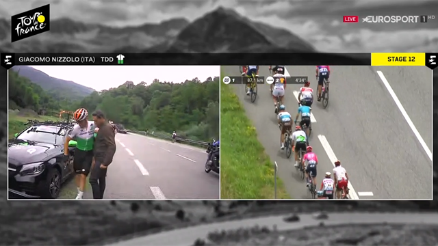 Tour de Francia 2019, por gestos así Contador es leyenda: se baja de la moto para consolar a Nizzolo