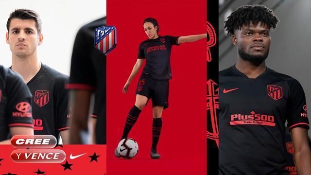 El Atlético de Madrid presenta su segunda equipación para la 2019/20