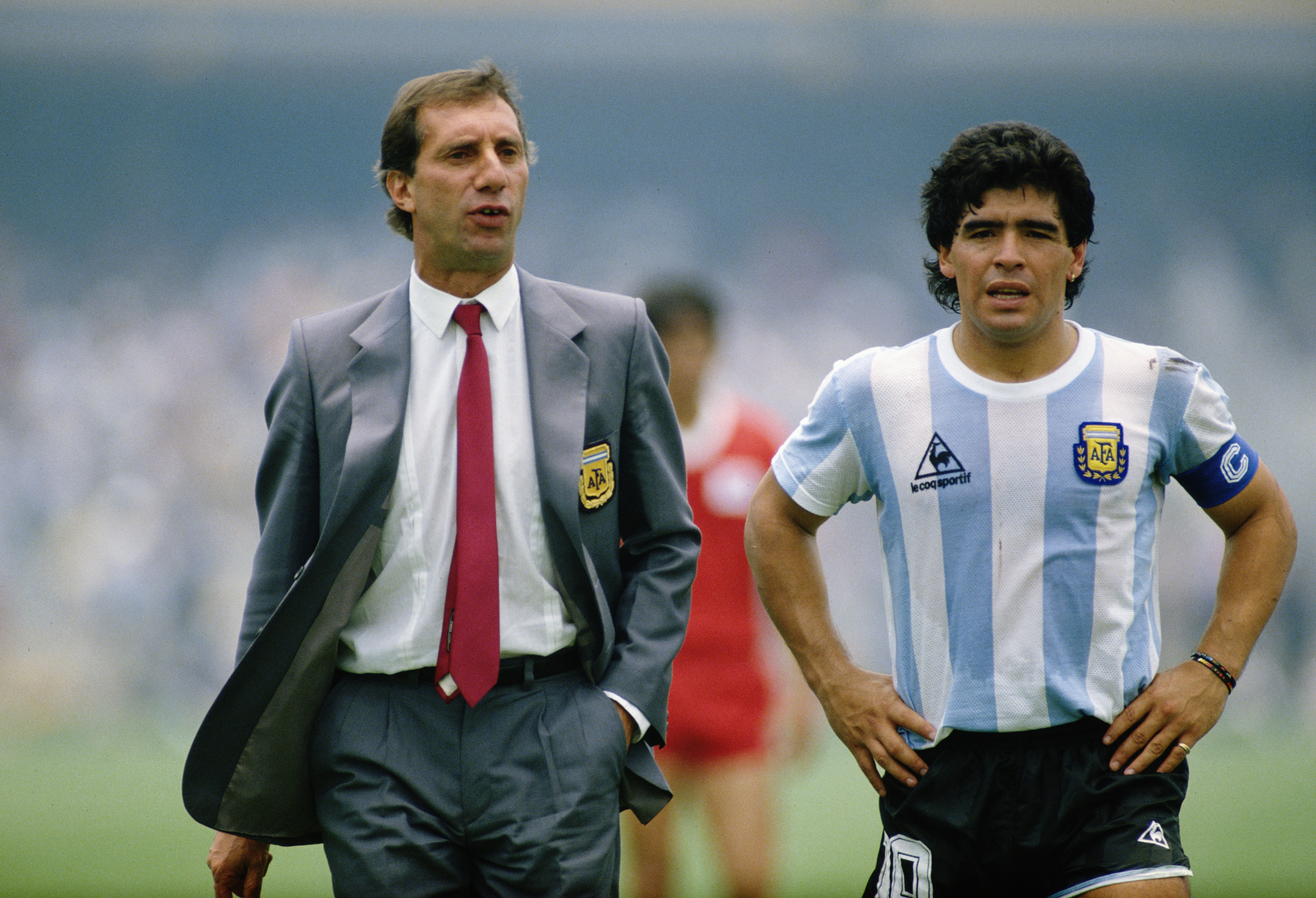 Carlos Bilardo et Diego Maradona lors de la Coupe du monde 1986