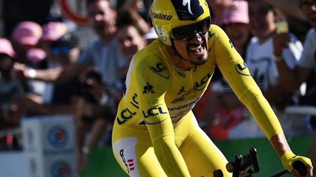 Алафилиппе выиграл индивидуальную гонку с раздельным стартом, Томас – второй