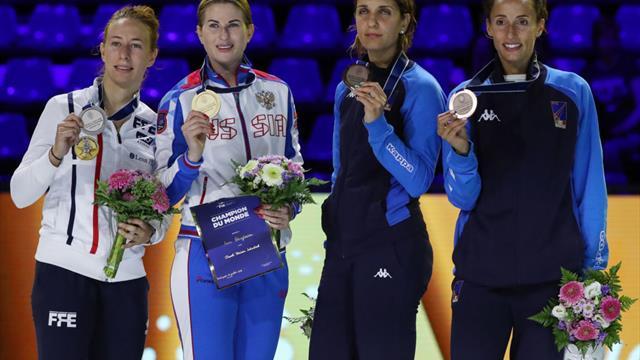 Дериглазова стала пятикратной чемпионкой мира пофехтованию
