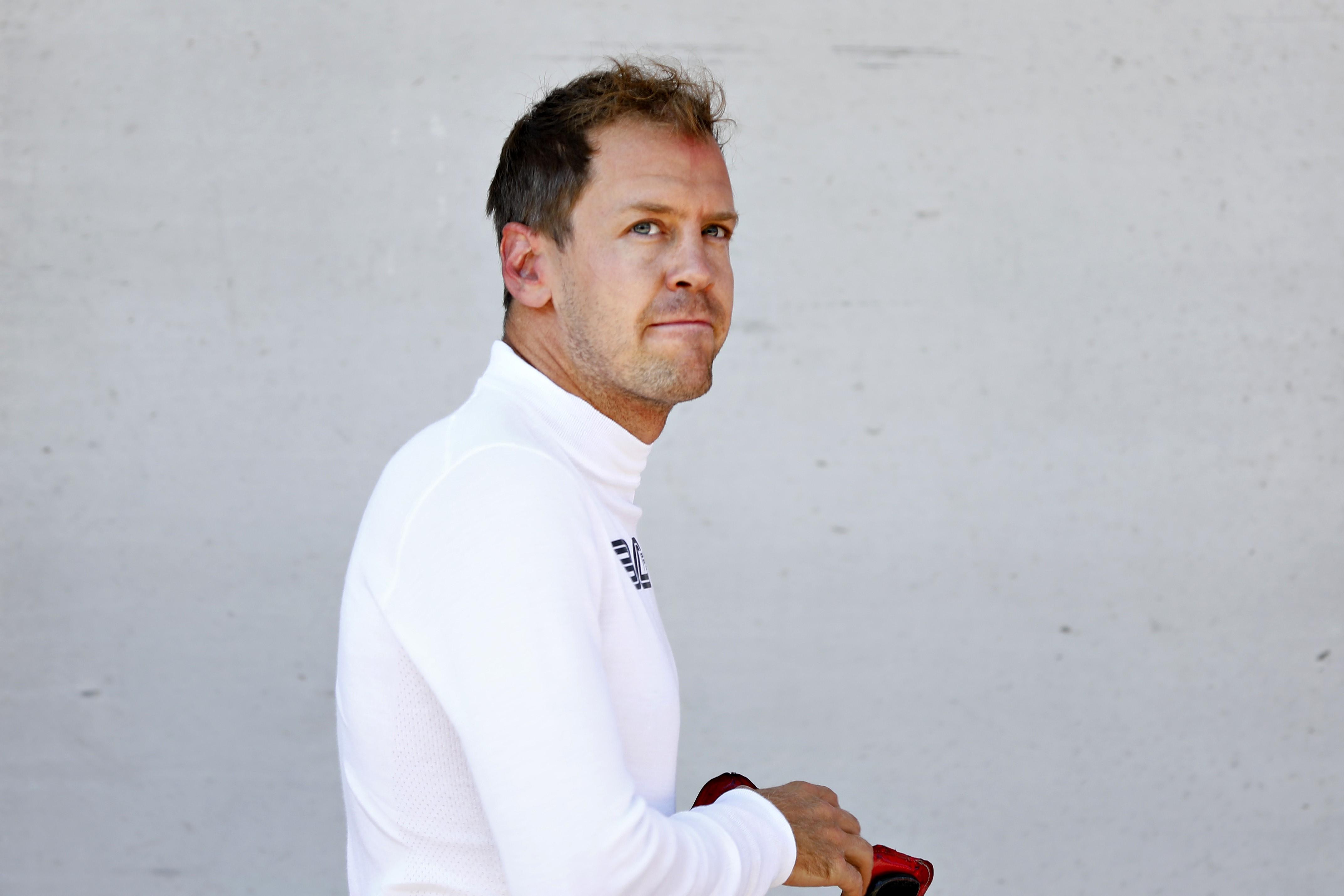 Sebastian Vettel (Ferrari) au Grand Prix de Grande Bretagne 2019