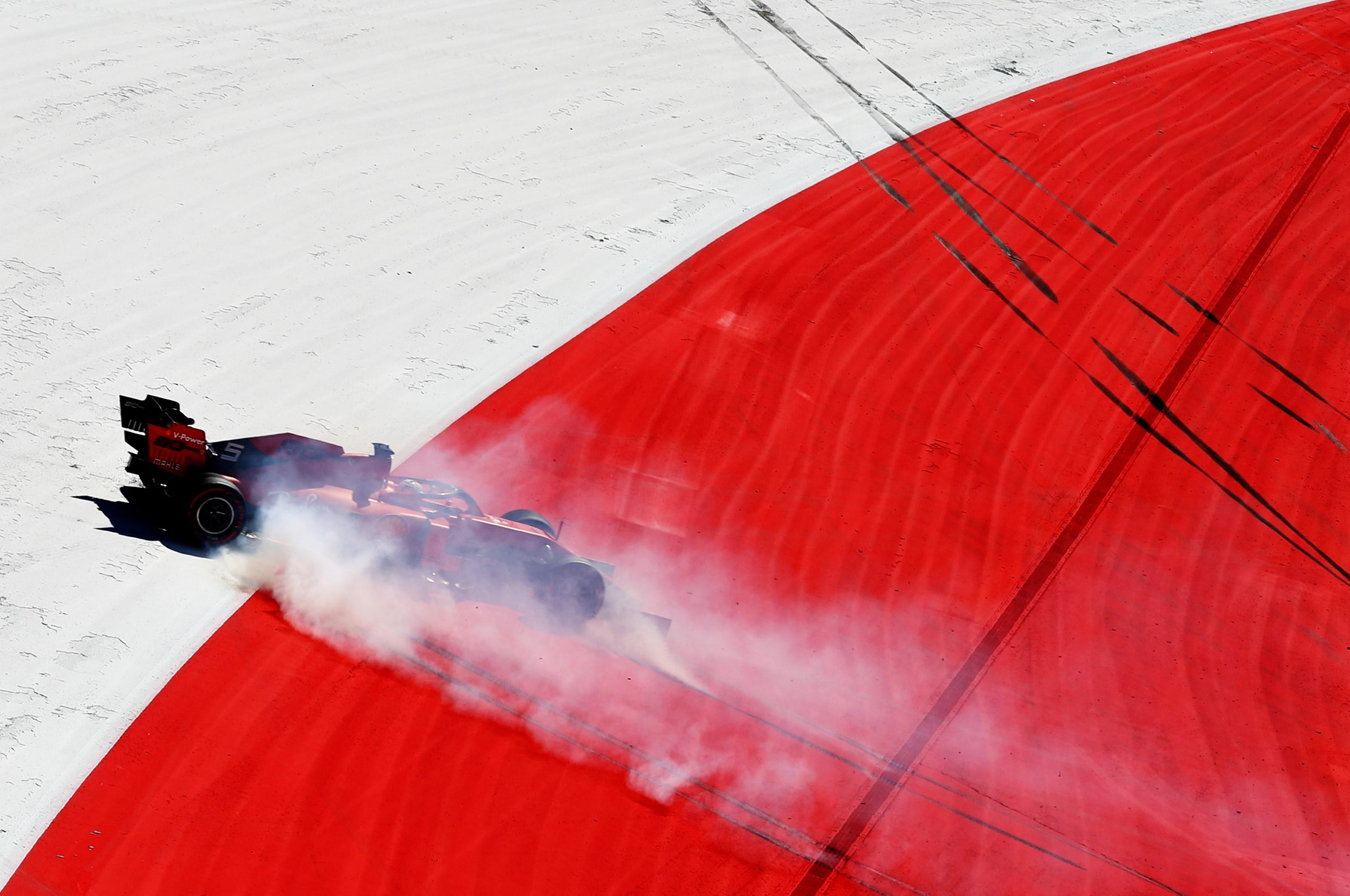 Sebastian Vettel (Ferrari) au Grand Prix d'Autriche 2019