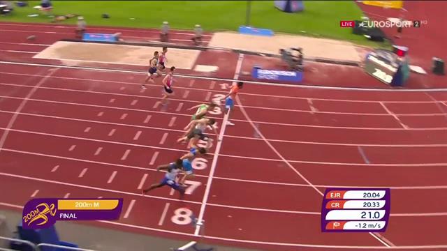 Altra medaglia per gli azzurri agli Europei Under 20: Donola è di bronzo nei 200m