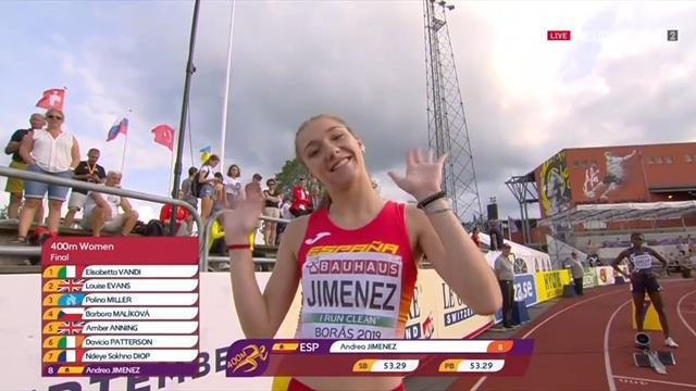 Europeos Sub-20 de Atletismo: Andrea Jiménez hace caer un récord de España de hace 30 años