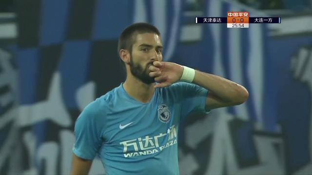 Magia di Yannick Carrasco: segna direttamente da corner in Cina!