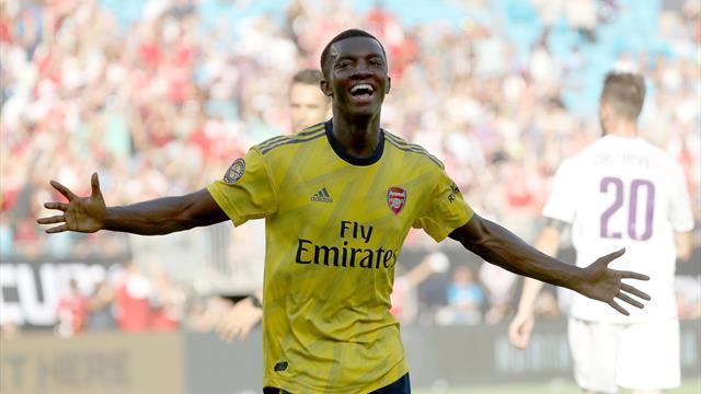 Nketiah double seals Arsenal win over Fiorentina