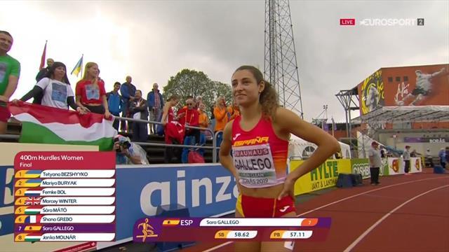 Europeos Sub-20: Sara Gallego se lleva el bronce en 400 vallas