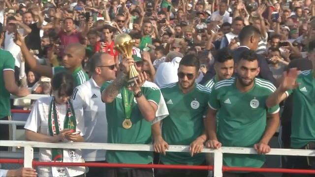 CAN 2019 : Alger fête ses champions