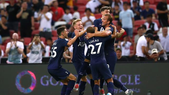 Kane scores from halfway line as Tottenham snatch Juve win
